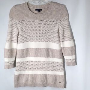 Tommy Hilfiger Open/Closed Knit Sweater
